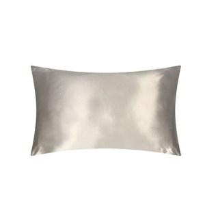 Lecler grey silk pillow case