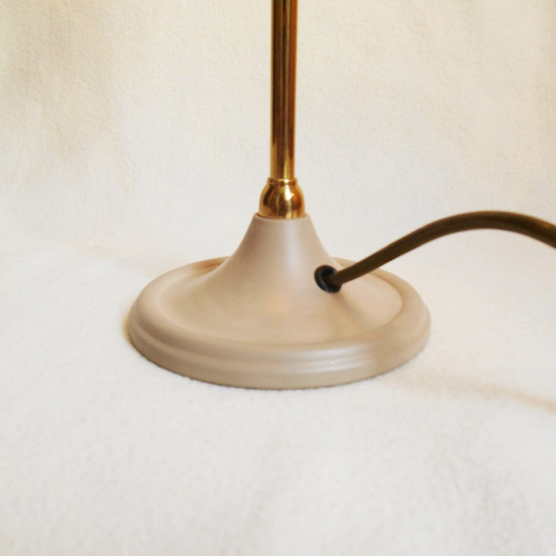 A pair of brass lamps by Fiona Bradshaw Designs
