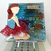 """Mixed Media Canvas Art - """"Happiness in the NOW"""""""