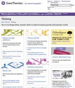 Thinking homepage