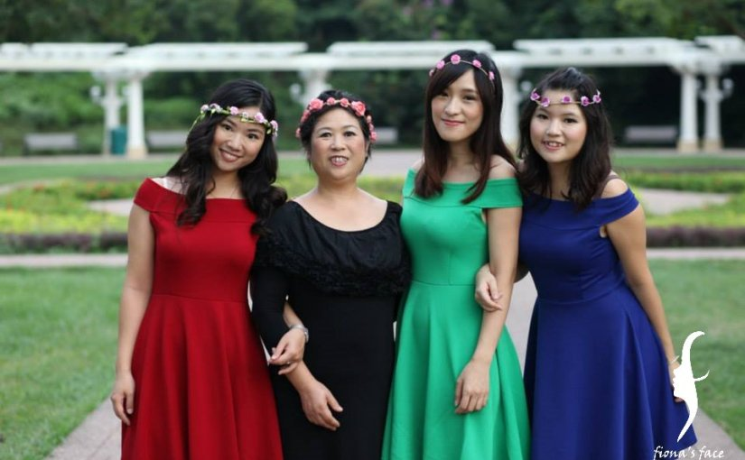 Family shooting Makeup & simple hair styling for Cecilia 家庭照化妝