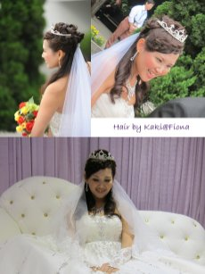 bridal hairdo by Fiona