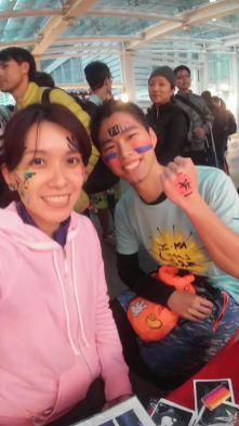 by fiona's face painting team artist.