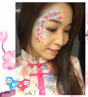 HK face painting artist fiona