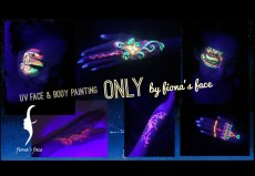 HK face painting artist fiona - UV face body painting