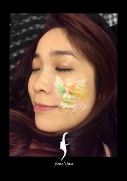 HK face painting artist fiona - fairy