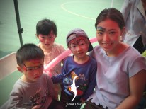 Happy Fiona's face Painting team at Lions Club Phoenix HK
