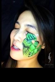 HK face & body painting artist fiona - marvel heros