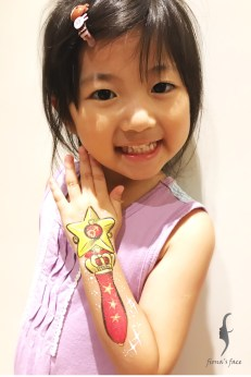 Sailor Mars, 美少女戰士, by HK face painting artist fiona