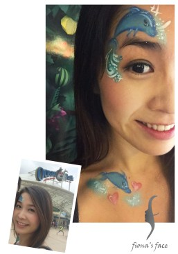 HK face & body painting artist fiona