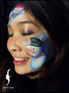 Christmas design by HK face & body painting artist fiona