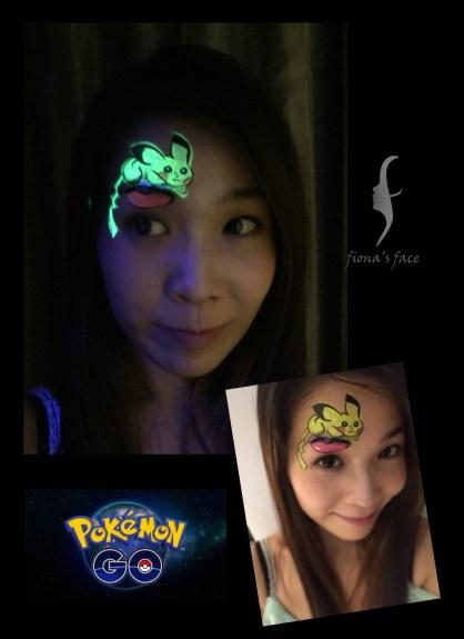 HK face painting artist fiona - Pikachu
