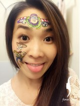HK face painting artist fiona - toy story