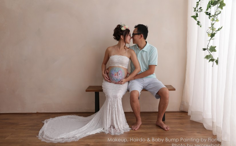 BabyBump Painting + Makeup for maternity shooting
