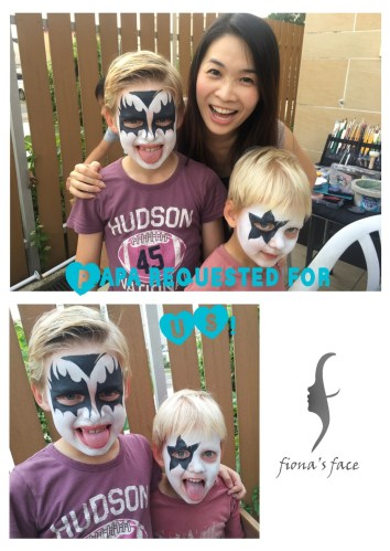 Papa has specially request Fiona to paint his sons in this way! XD