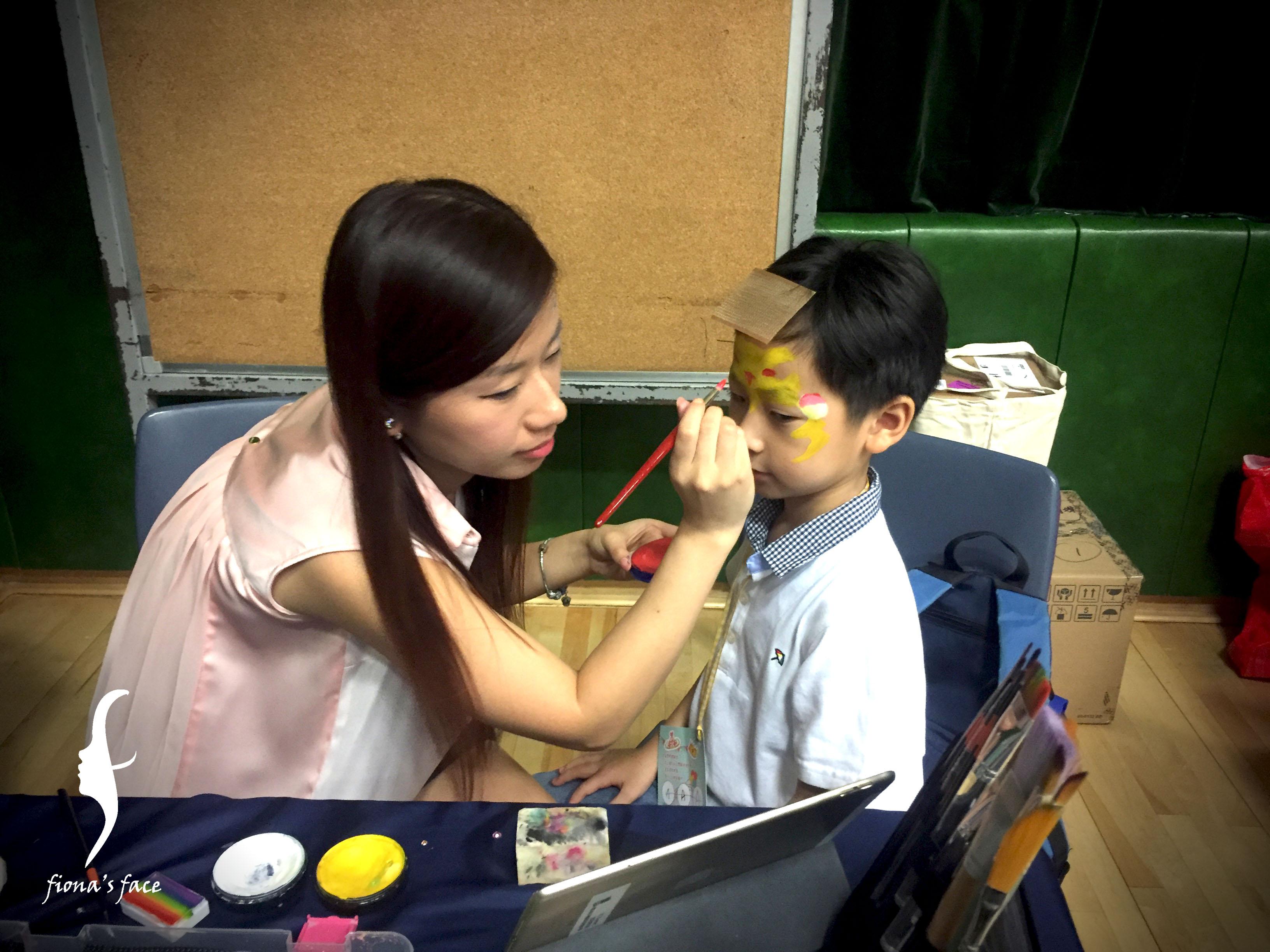 Fiona's face painting team - Kangi