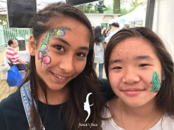 "Sharing happiness by fiona's face painting team in community event ""Sai Kung Art & About"""