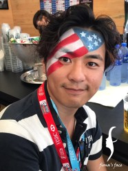 Face Painting in Hong Kong Sevens 2017