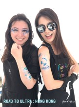 waterproof airbrush face body art in HK by fiona's face