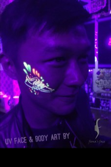 UV Face/body art by Fiona & Angel