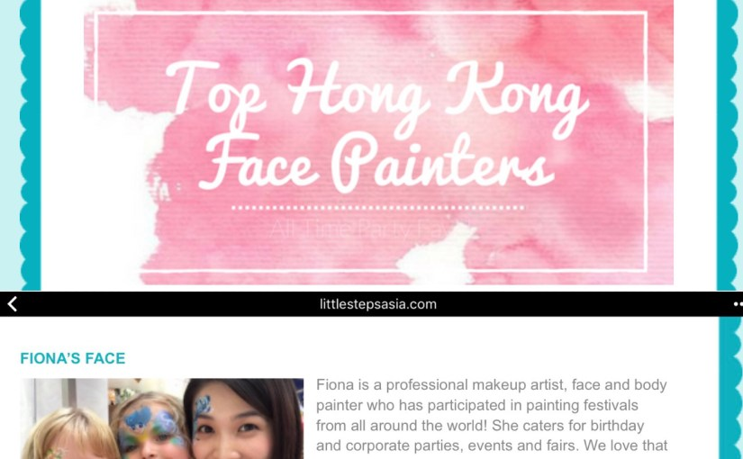 Top HK Face Painter by littlestepsasia.com