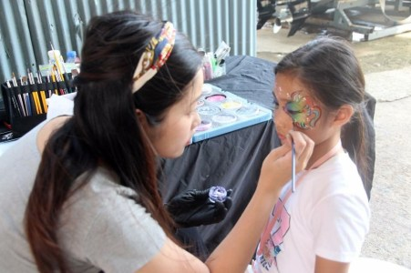 HK face painting with sea theme by fiona's face photo credit to Simpson Marine