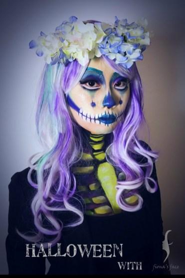 Emi Wong's Halloween makeup by HK artist Fiona