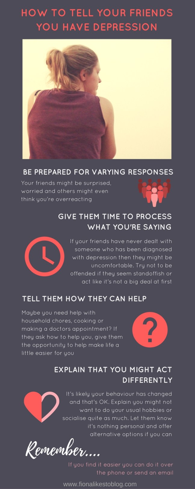 how to tell your friends you have depression mental health