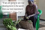 """If we are going to see real development in the world, then our best investment is women.""- Desmond Tutu"
