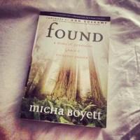 Found Micha Boyett
