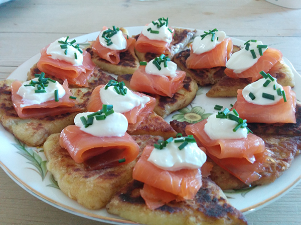 Scottish Lunch / Tattie Scones with Smoked Salmon - Fiona Lynne
