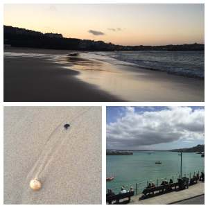 Collage of beach and sea photos from St Ives