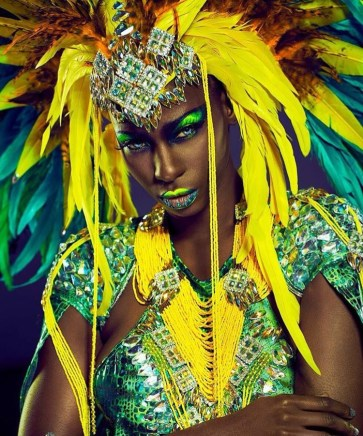 Make-up Designer: Kitty Noofah Make-up Assistants: Fiona Neal and Amber Julie For Bacchanalia UK Masband Notting Hill Carnival 2017 Costume Collection. Designer Kelly Rajpaulsingh Photographer: Jared Duk