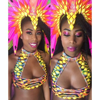Carnival Expo Makeup by Fiona Neal Makeup designer: Kitty Noofah Clothing designer: Kelly Rajpaulsingh