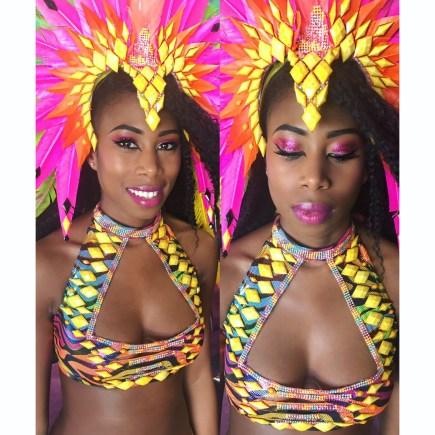 Carnival Expo Makeup by Fiona Neal Makeup designer: Kitty Noofah Clothing designer: Kelly Rajpaulsingh