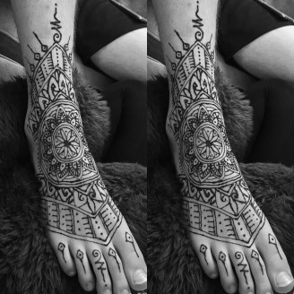 Henna Tattoo - Foot piece