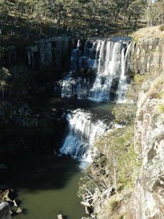 Upper Ebor Falls - the shorter but wider of the two falls at Ebor.