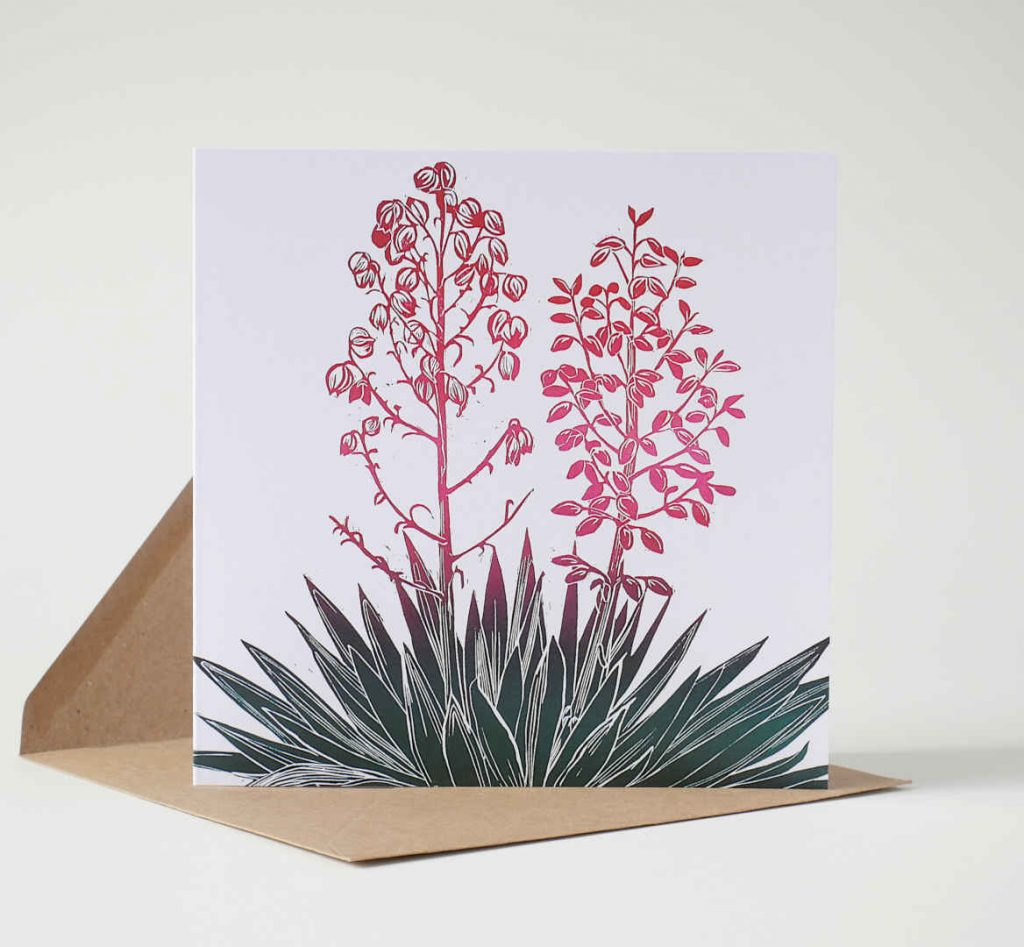 Flowering Yucca Greeting Card by Fiona Parrott