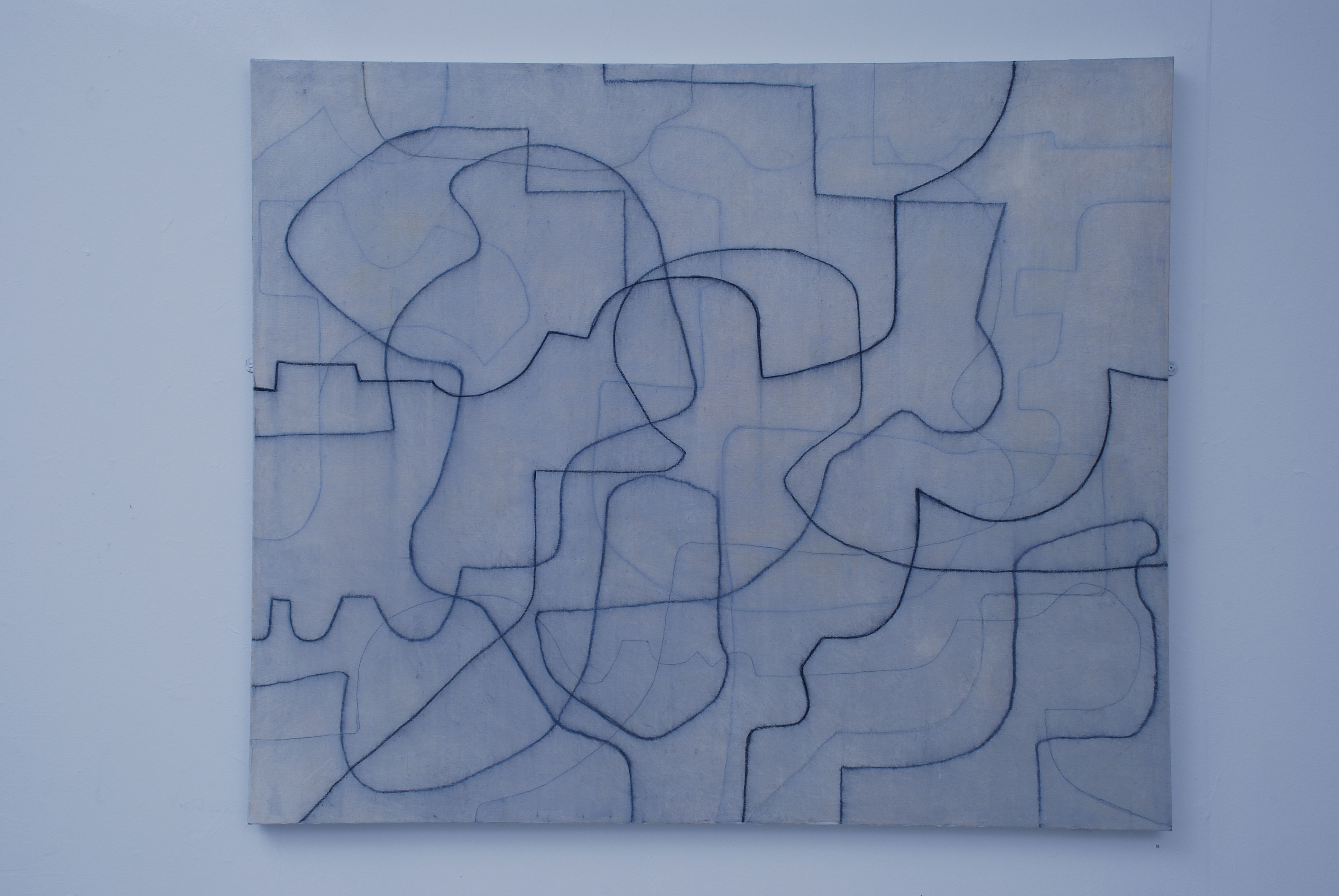 Yellow Meandering. Oil and charcoal on canvas. 100 x 120 cms. 2007.