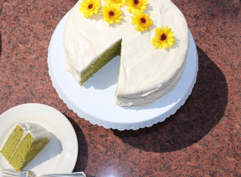 Easy Spinach Lemon Cake (Gluten and Dairy Free)