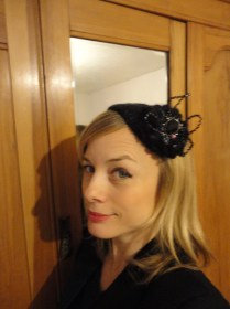 just right, the fascinator.