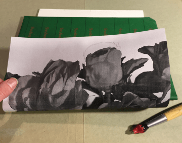 Image on carbon paper on painting surface