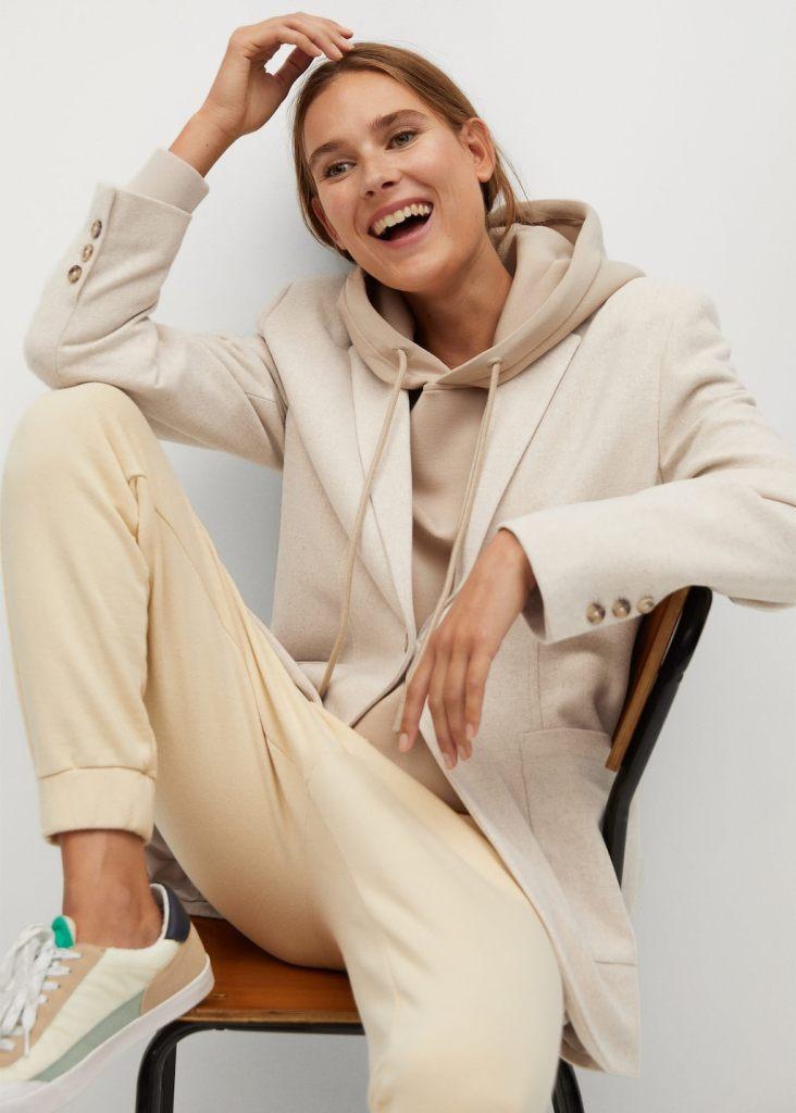 giacca con felpa
