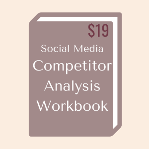 Social Media Competitor Analysis Workbook