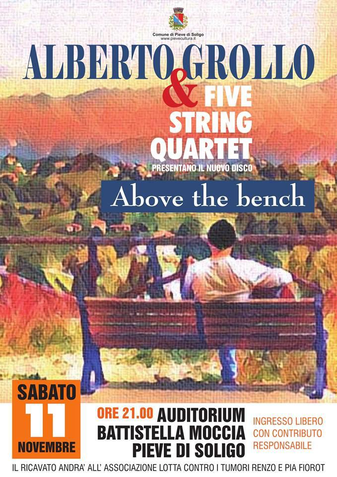 locandina concerto five strig quartet pieve soligo 11 novembre