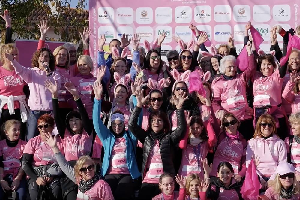 un saluto dalla quarta edizione della corri in rosa