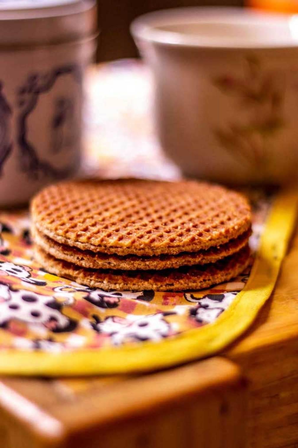 Waffle para tomar café