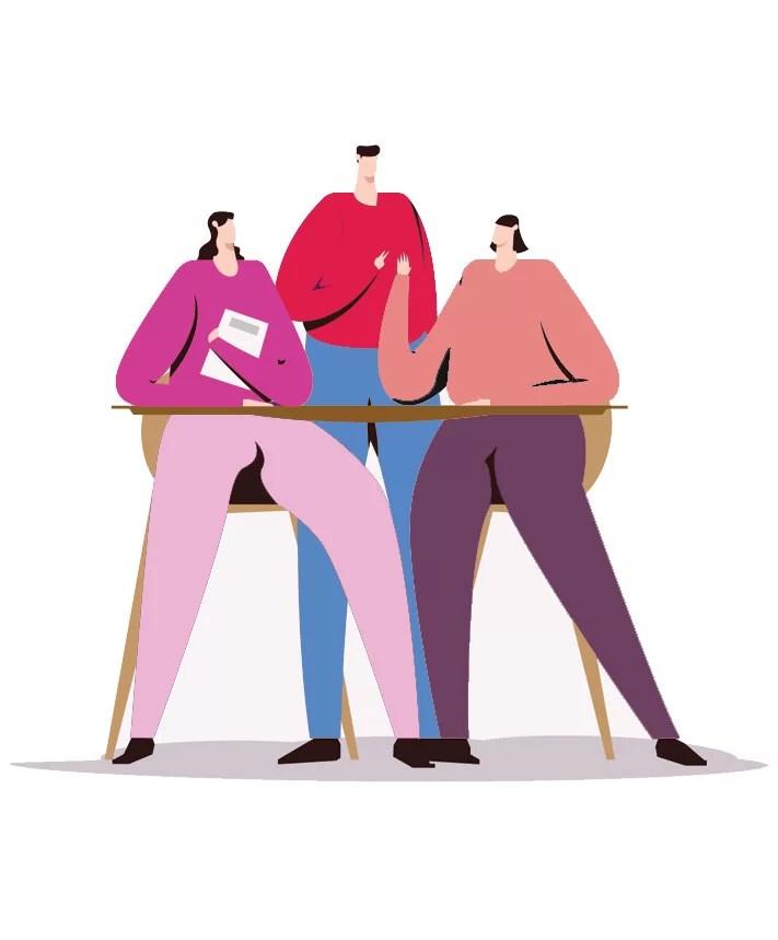Ilustração de pessoas