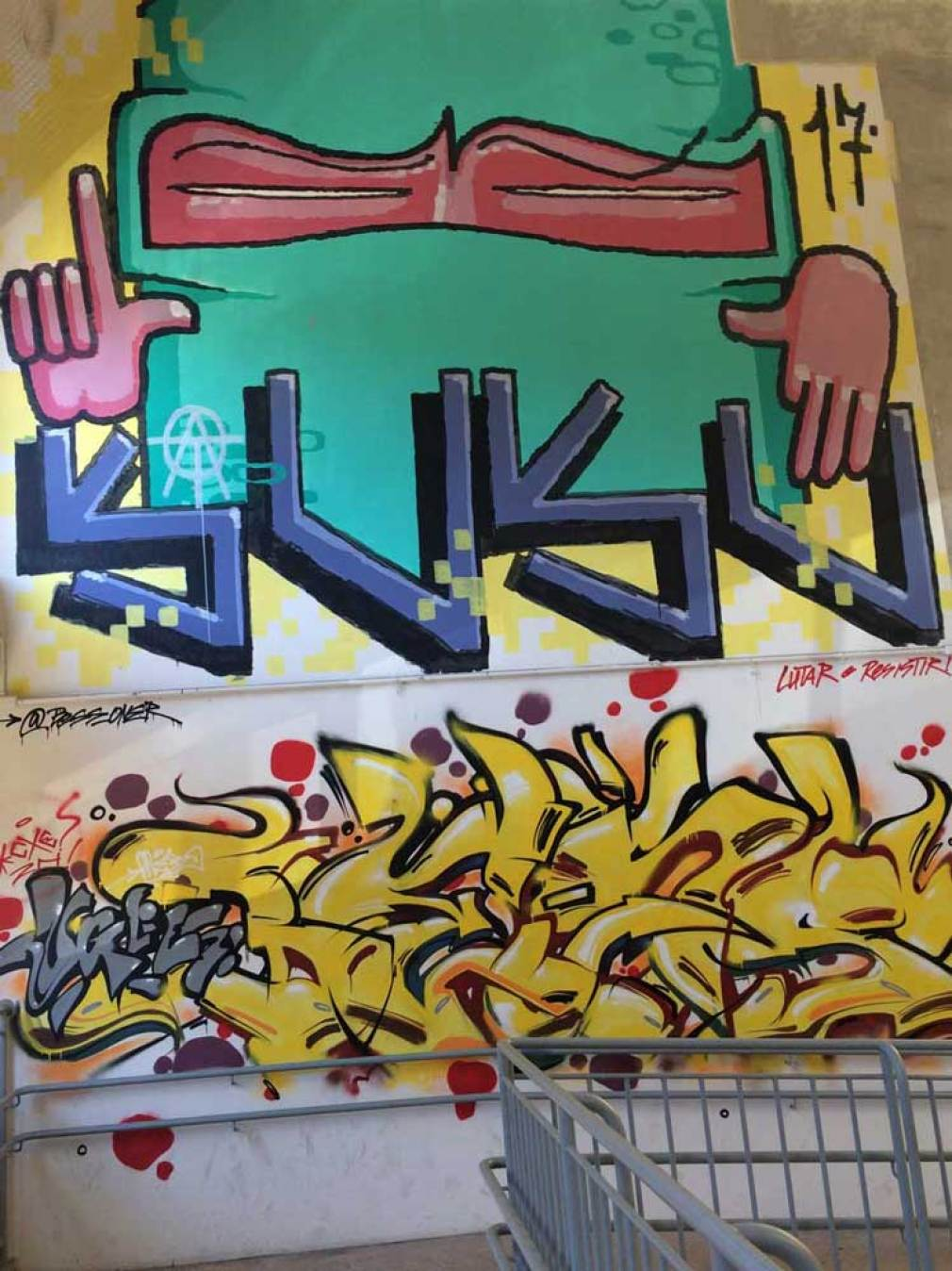Pichação e grafitagem