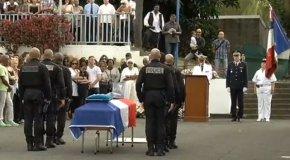 La cérémonie d'hommage au policier du GIPN décédé en mission